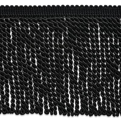 "Riley 5 3/4"" Bullion Fringe Trim Black"