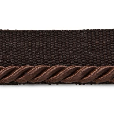 "Ebony 1/8"" Twisted Lip Cord Trim Chocolate"