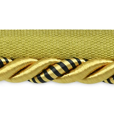 "Hilda 3/8"" Twisted Lip Cord Trim Gold/Black"