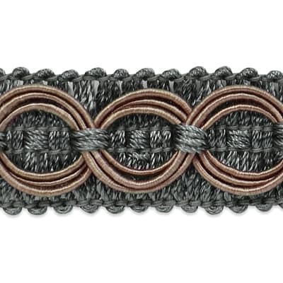 Collette Woven Braid Circle Trim Pewter