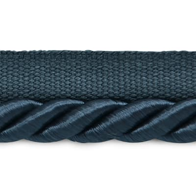 "Hilda 3/8"" Twisted Lip Cord Trim Denim"
