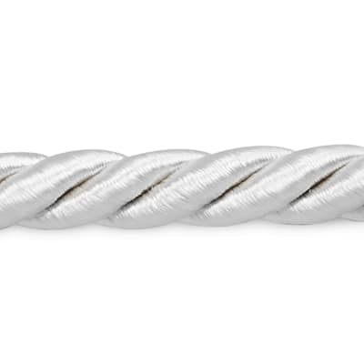 "Rebekah 1/4"" Twisted Cord Trim White"