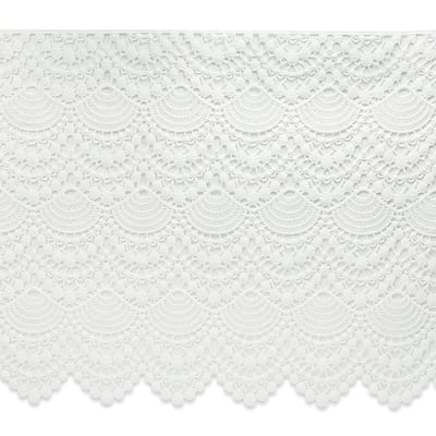 Pretty Lace Trim White