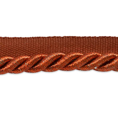 "Nicholas 3/8"" Twisted Lip Cord Trim Metallic Copper"