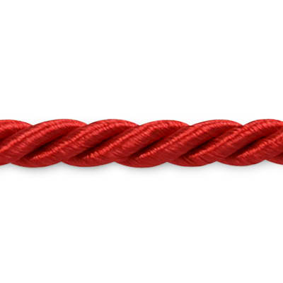 "Wanda 3/16"" Twisted Cord Trim Red"
