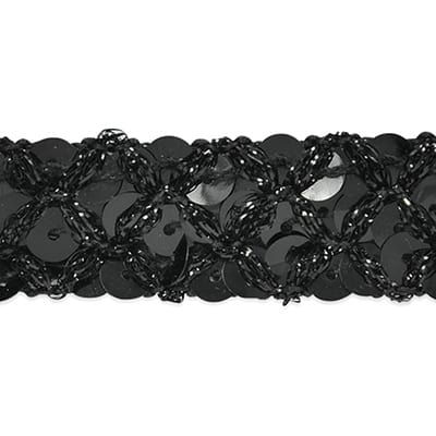 Sereia Sequin Trim Black