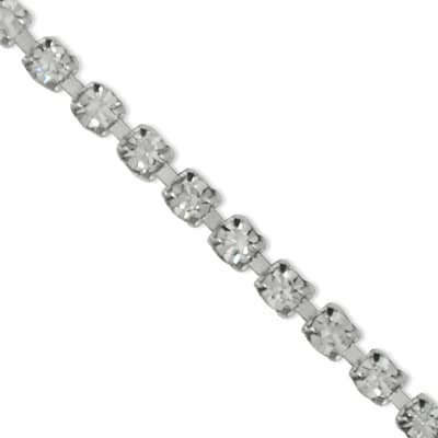 "Parris 1/8"" One Row Rhinestone Chain Trim Crystal"