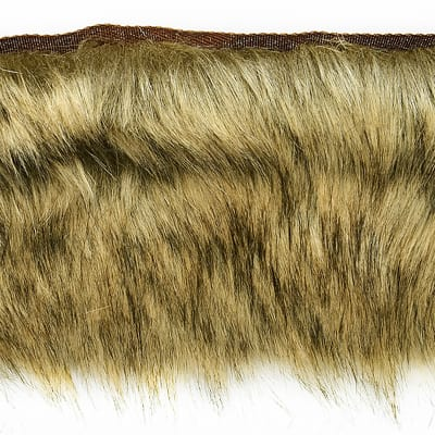 Faux Fox Fur Trim Light Brown Discount Designer Fabric