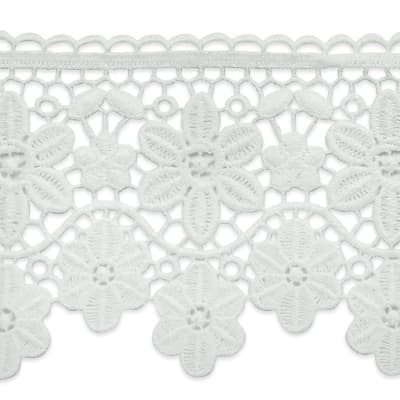 """Candace 3 3/4"""" Daisy Chain Lace Trim Off White"""