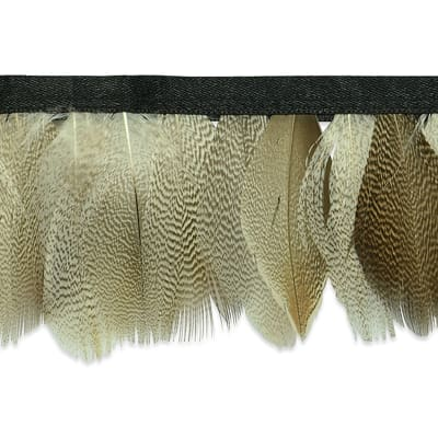"""Mienna Feather Fringe Trim 2 1/3"""" Natural"""
