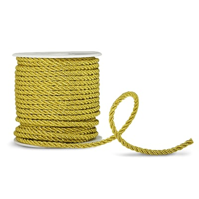 "Cathy 3/16"" Twisted Cord Trim Metallic Gold"