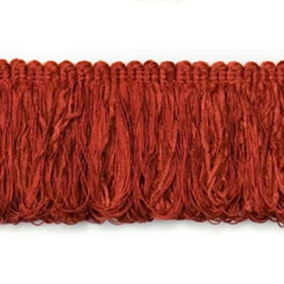 Chenille Loop Fringe Trim Red (Precut, 20 Yards)