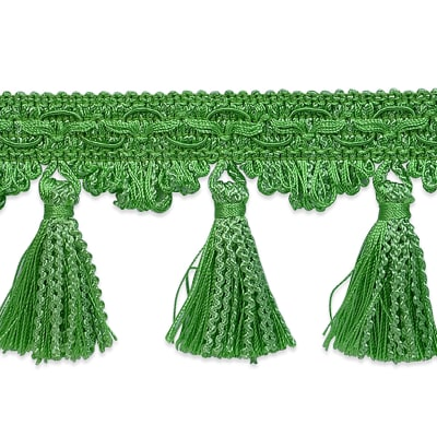 Ric Rac Tassel Trim Lime (Precut, 20 Yards)