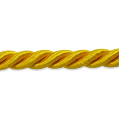 "Charlotte 3/16"" Twisted Cord Trim Yellow Gold (Precut, 20 Yards)"