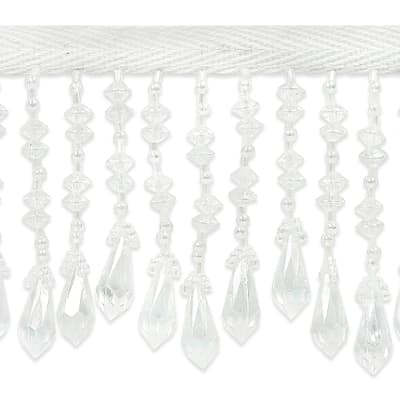 Disk and Diamond Fringe Trim Crystal (Precut, 10 Yards)
