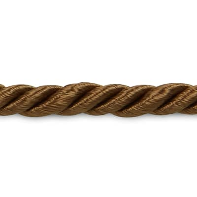 "Wanda 3/16"" Twisted Cord Trim Cocoa (Precut, 20 Yards)"