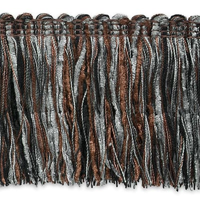 Chenille Cut Fringe Trim Pewter Multi (Precut, 20 Yards)