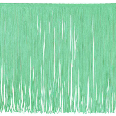 "12"" Chainette Fringe Trim Mint Green (Precut, 20 Yards)"