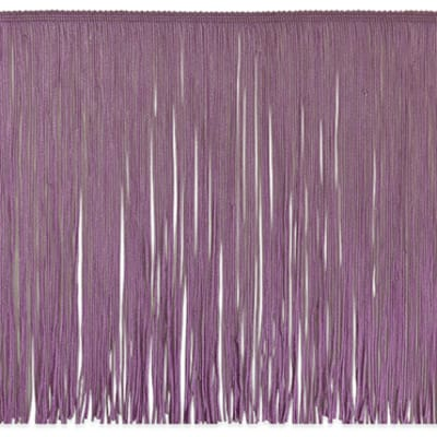 "12"" Chainette Fringe Trim Plum (Precut, 20 Yards)"