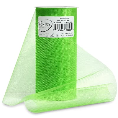 "Shiny 6"" Tulle (Spool, 25 Yards) Green"