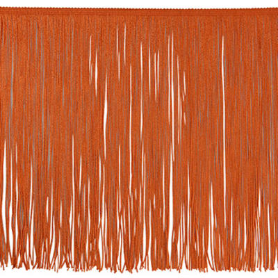 "12"" Chainette Fringe Trim Orange (Precut, 20 Yards)"