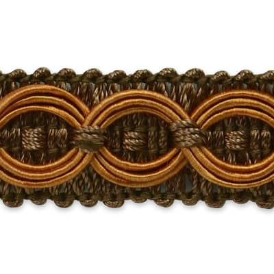 Collette Woven Braid Circle Trim Cocoa (Precut, 20 Yards)