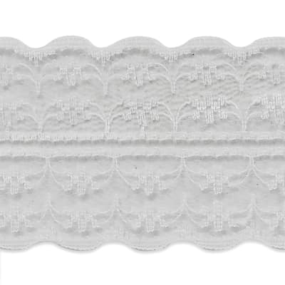 """1 3/4"""" X 20 yards of Scarlet Lace Trim White (3 Pack)"""