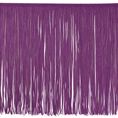 "12"" Chainette Fringe Trim Berry (Precut, 20 Yards)"