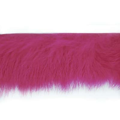"1 1/2"" Rabbit Fur Trim Fuchsia (Precut, 10 Yards)"