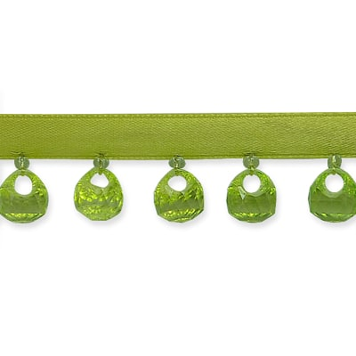 Reese Beaded Fringe Trim Lime (Precut, 10 Yards)