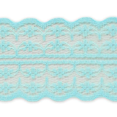 "1 3/4"" X 20 Yards of Scarlet Lace Trim Baby Blue (3 Pack)"