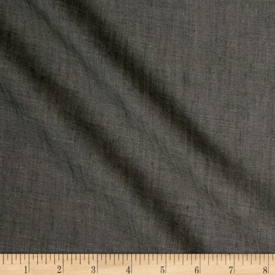 100% European Linen Yarn Dyed Chambray Slate