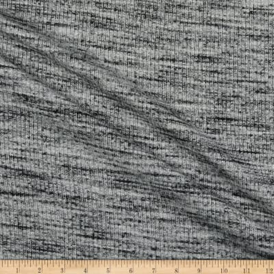 Brushed Sweater Knit Speckled Heather Grey