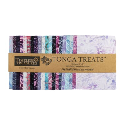 "Timeless Treasures Tonga Batik Treat 5"" Square Pack Magic"