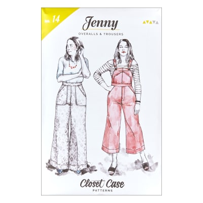 1940s Sewing Patterns – Dresses, Overalls, Lingerie etc Closet Case Jenny Overalls & Trousers $18.00 AT vintagedancer.com
