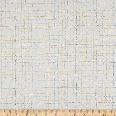 Northcott Sew Sweet Dottted Check Gray/Yellow