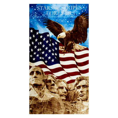"Stonehenge Stars and Stripes I - VI Rushmore 24"" Panel Navy"