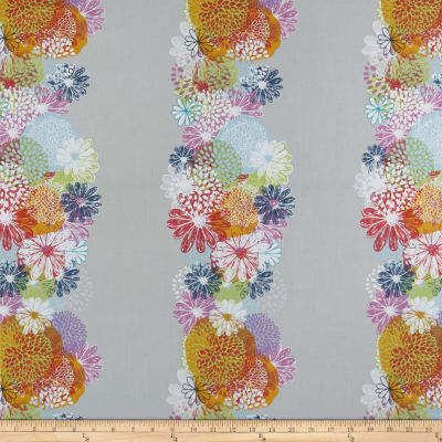 "In The Beginning Fabrics Doodle Blossoms Flower 8"" Border Panel Multi"