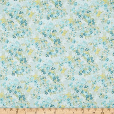 In The Beginning Fabrics Garden Delights II Roses Teal