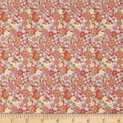 In The Beginning Fabrics Garden Delights II Blossoms Coral