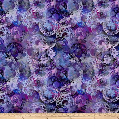 In The Beginning Fabrics Diaphanous By Jason Yenter Celtic Garden Amethyst