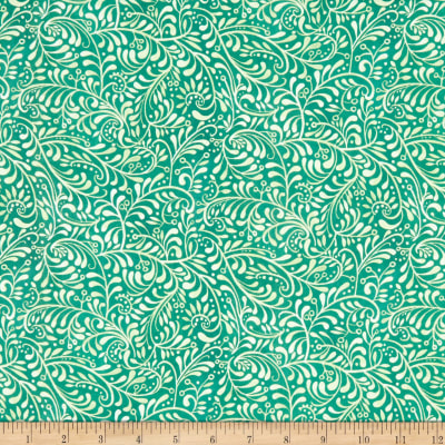 In The Beginning Fabrics Hey Diddle Diddle Vines Digital Print Teal