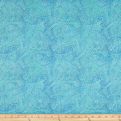 In The Beginning Fabrics Hey Diddle Diddle Dash Swirls Digital Print Turquoise