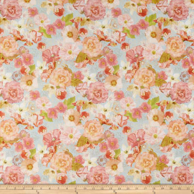 In The Beginning Fabrics Believe Large Floral Multi