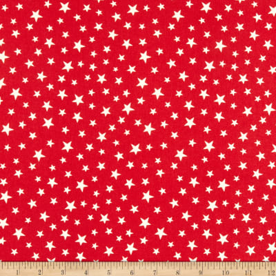 Lewis & Irene Christmas Glow Glow Stars Glow In The Dark Red