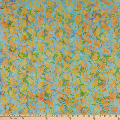 Island Batik Sweet Tweets 2 Baby Birds Sea Mist