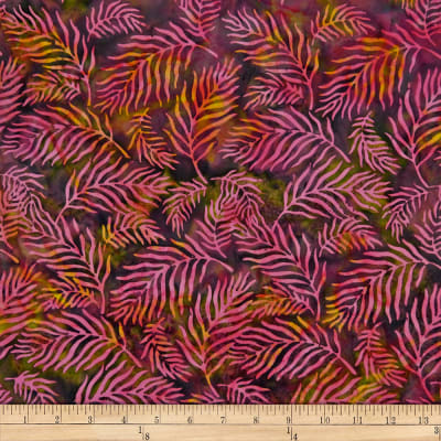 Batik by Mirah Sierra Palm Leaves Wilderness Pink