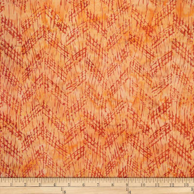 Batik by Mirah Sierra Crosshatches Gaze Orange