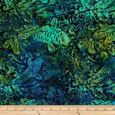 Batik by Mirah Coast to Coast Fish Rabbit Navy