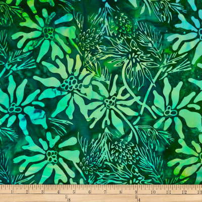 Batik by Mirah Coast to Coast Florals Kombu Green